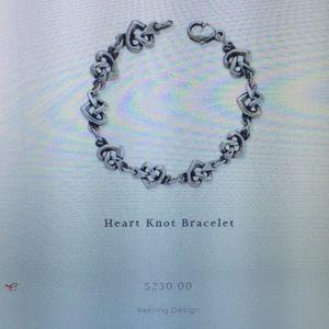 James Avery Jewelry - Retiring James Avery Heart Knot Bracelet - sz M